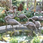 Flamingo fountains, private house London